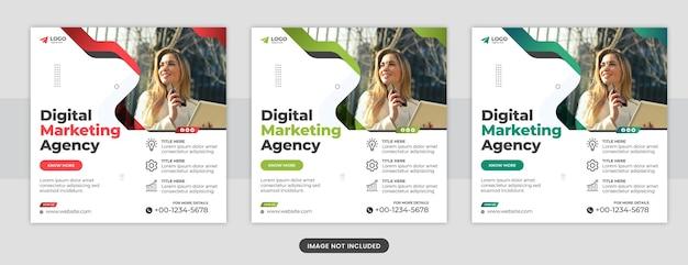 Agenzia di marketing digitale post sui social media o modello di banner web