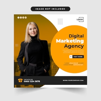 Raccolta di modelli di post sui social media dell'agenzia di marketing digitale