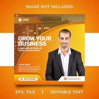 Promozione dei social media dell'agenzia di marketing digitale e design del modello di banner post di instagram