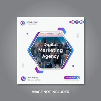 Modello di banner web social media agenzia di marketing digitale