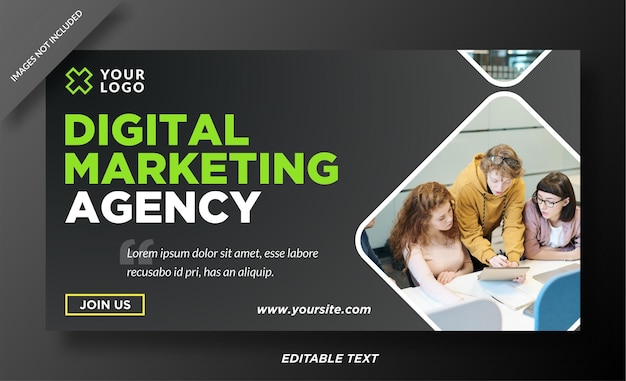Progettazione di modelli web banner di marketing digitale