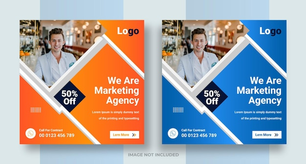 Social media aziendale di marketing digitale instagram post web banner design