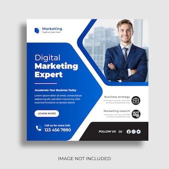 Marketing digitale e social media aziendali post design banner