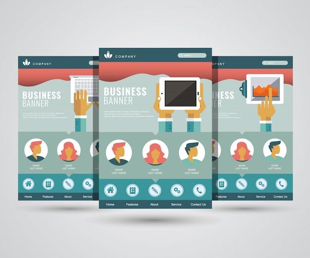Pagine di destinazione del marketing digitale, business e tecnologia