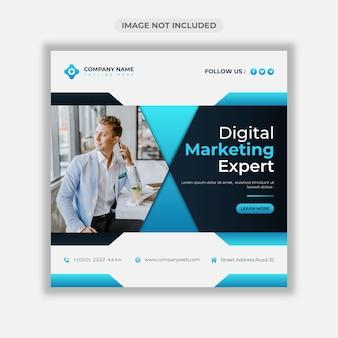 Banner web aziendale di marketing digitale o modello di post sui social media