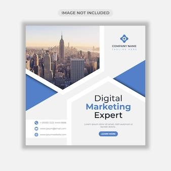 Banner web aziendale di marketing digitale o modello di post sui social media Vettore Premium
