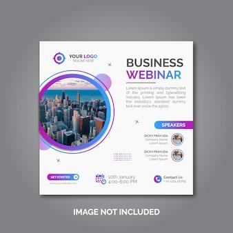 Banner di conferenza webinar aziendale di marketing digitale Vettore Premium