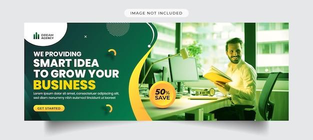 Marketing digitale e copertina facebook aziendale e modello di banner