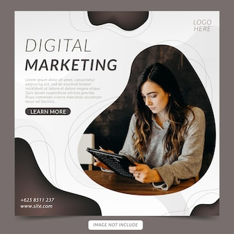 Banner di social media aziendale di marketing digitale e modello di post di instagram