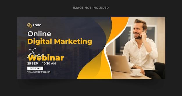 Modello di post banner web webinar aziendale di marketing digitale