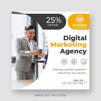 Modello di post sui social media di sconto di marketing digitale