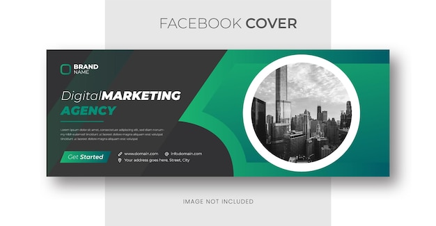 Modello di banner di copertina di facebook di marketing digitale