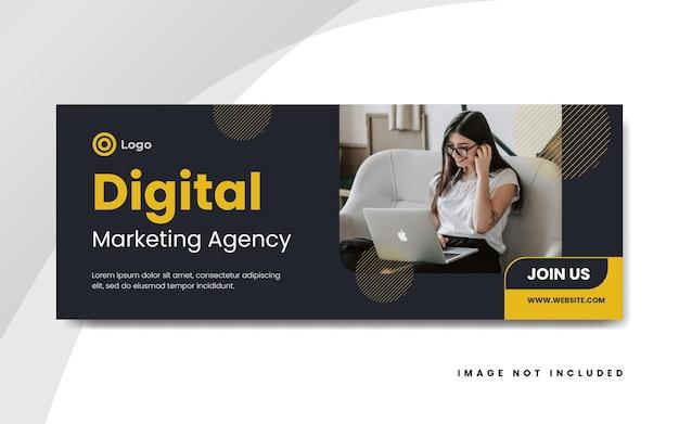 Modello di copertina di facebook per il marketing digitale