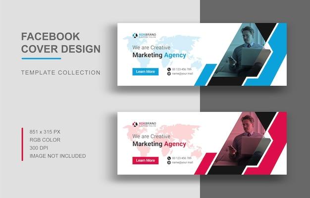 Design del modello di copertina di facebook di marketing digitale