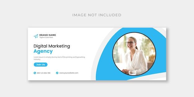 Copertina facebook di marketing digitale o modello di progettazione banner web
