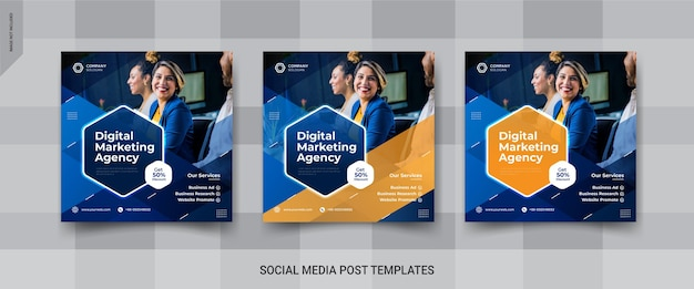 Modello di post di social media banner di marketing digitale instagram