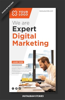 Modello di storie di instagram di marketing digitale
