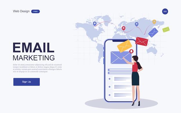 Landing page di marketing digitale