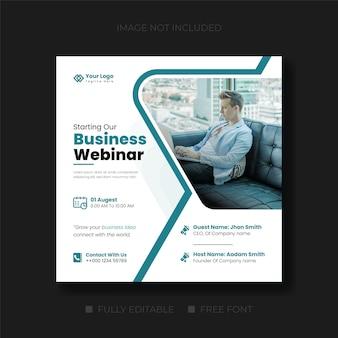 Webinar live di marketing digitale o design di banner web post sui social media
