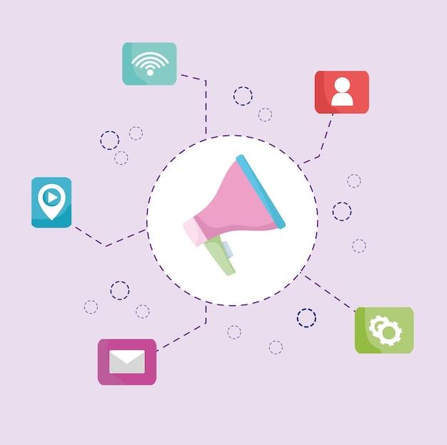 Megafono di marketing digitale