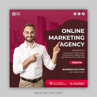 Marketing digitale e modello di progettazione post sui social media aziendali moderni