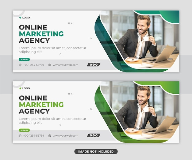 Digital marketing socail media copertina facebook modello banner web design