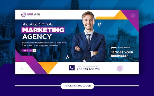 Modello di post banner social media marketing digitale