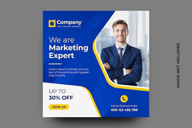 Banner di social media di marketing digitale Vettore Premium