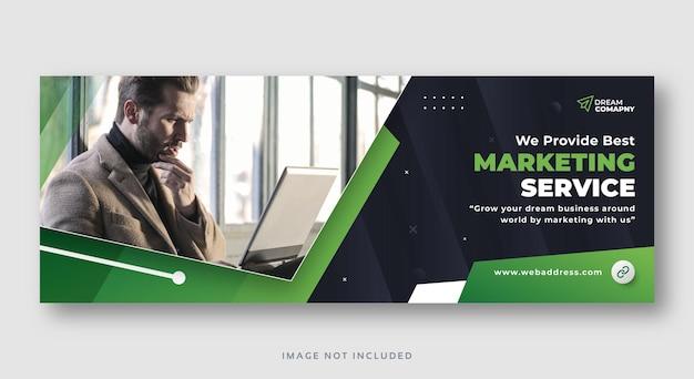 Banner web per la copertina dei social media di marketing digitale