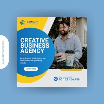 Marketing digitale social media post instagram o design banner web