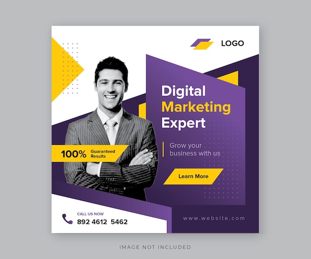 Progettazione di post sui social media di marketing digitale