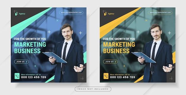 Marketing digitale per post sui social media o modello di banner quadrato