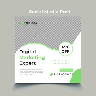Design del modello di post sui social media di marketing digitale