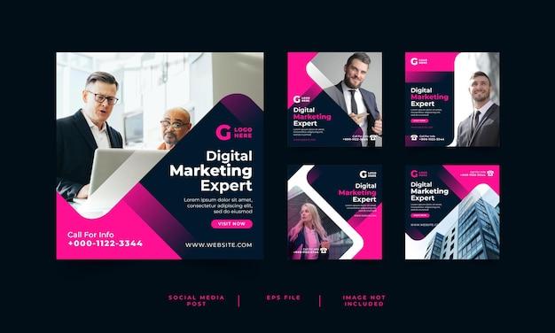 Modello di post sui social media di marketing digitale