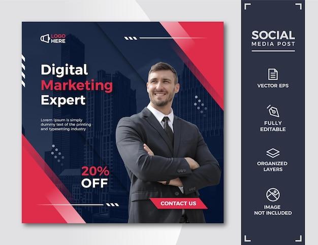 Modello di post per social media di marketing digitale