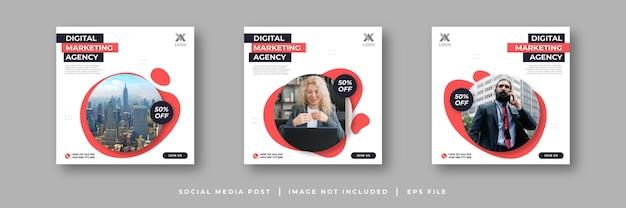 Post sui social media di marketing digitale
