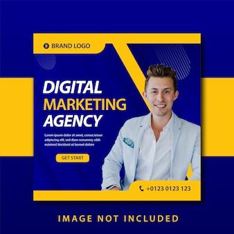 Promozione dei social media di marketing digitale e modello di progettazione di banner post per instagram