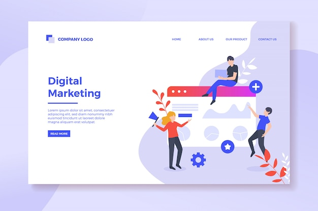 Pagina di destinazione della strategia di marketing digitale