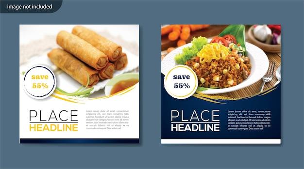 Modello di marketing digitale per post-cibo sui social media