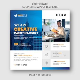 Marketing digitale twitter instagram facebook social media post banner design