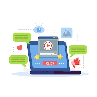 Marketing digitale, promozione dei contenuti di siti web su internet e social media