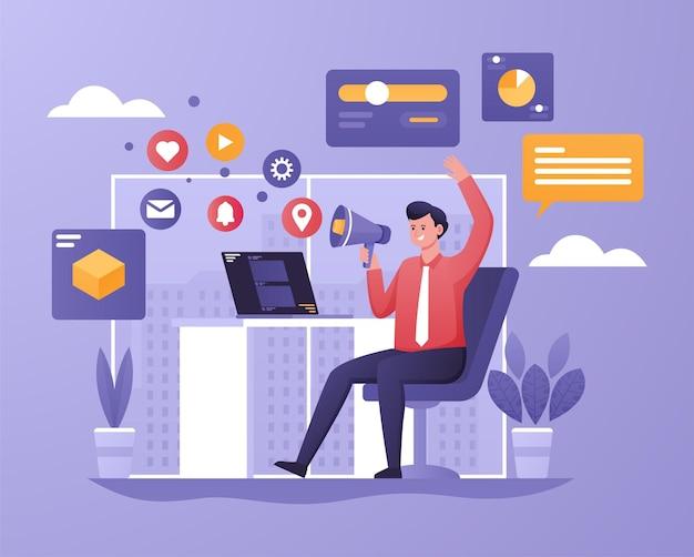 Marketing digitale con i social media per far crescere il business