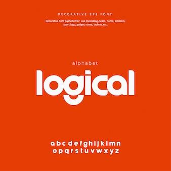 Carattere alfabeto creativo moderno techno digitale