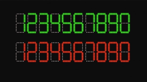 Numeri digitali impostati