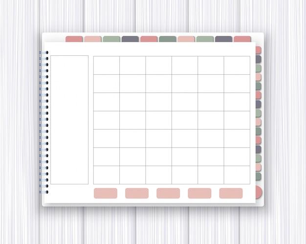 Modello di pianificatore digitale