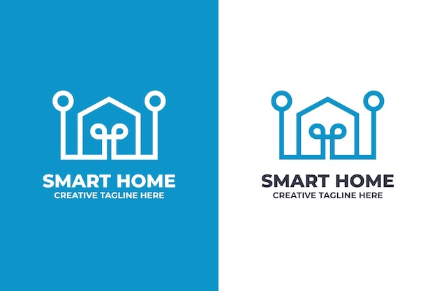 Logo della tecnologia per la casa intelligente digitale