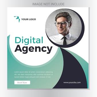 Banner di un'agenzia sociale digitale