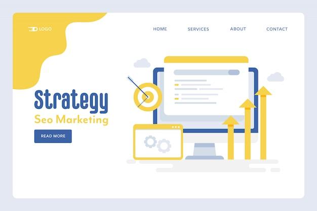 Pagina di destinazione della strategia digitale