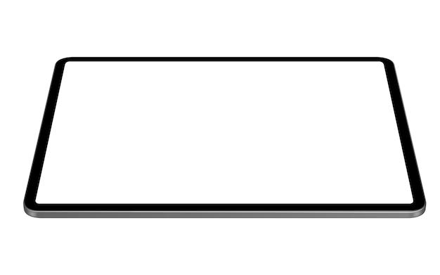 Vettore digitale della compressa che disegna prospettiva orizzontale
