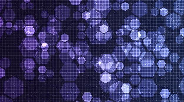 Tecnologia digitale su sfondo di microchip a circuito, alta tecnologia digitale e internet concept design